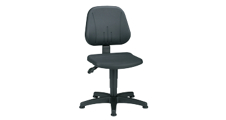 Industrial swivel chair with gas-lift height adjustment