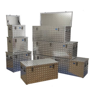 caisse de transport en t le stri e d 39 aluminium m1029051 frankel france. Black Bedroom Furniture Sets. Home Design Ideas