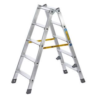 Escalera tipo tijera de pelda os planos de aluminio for Tipos de escaleras de aluminio