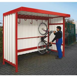 Marquesina con ganchos para colgar bicicletas m4815 for Ganchos colgadores pared