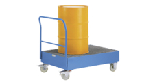 Drum transporter with 220 l sump tray