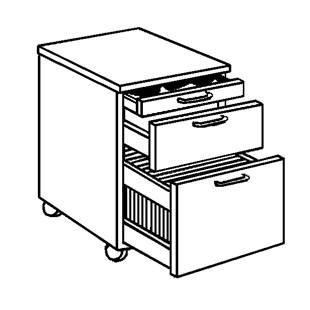 Home Page / Mobili per ufficio / Cassettiere con rotelle / TINO ...