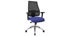 Operator swivel chair, with mesh back rest