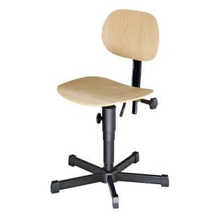Sedia girevole da lavoro con sedile in legno m2730 for Sedie girevoli