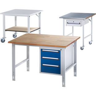 Tavolo da lavoro regolabile in altezza m90498 kaiser kraft italia - Tavolo regolabile in altezza ...