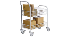 Office and mail distribution trolley