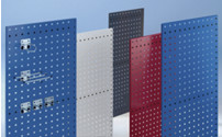 Perforated panel made of sheet steel, 9.2 x 9.2 mm hole matrix