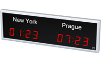 Horloge internationale à diodes LED