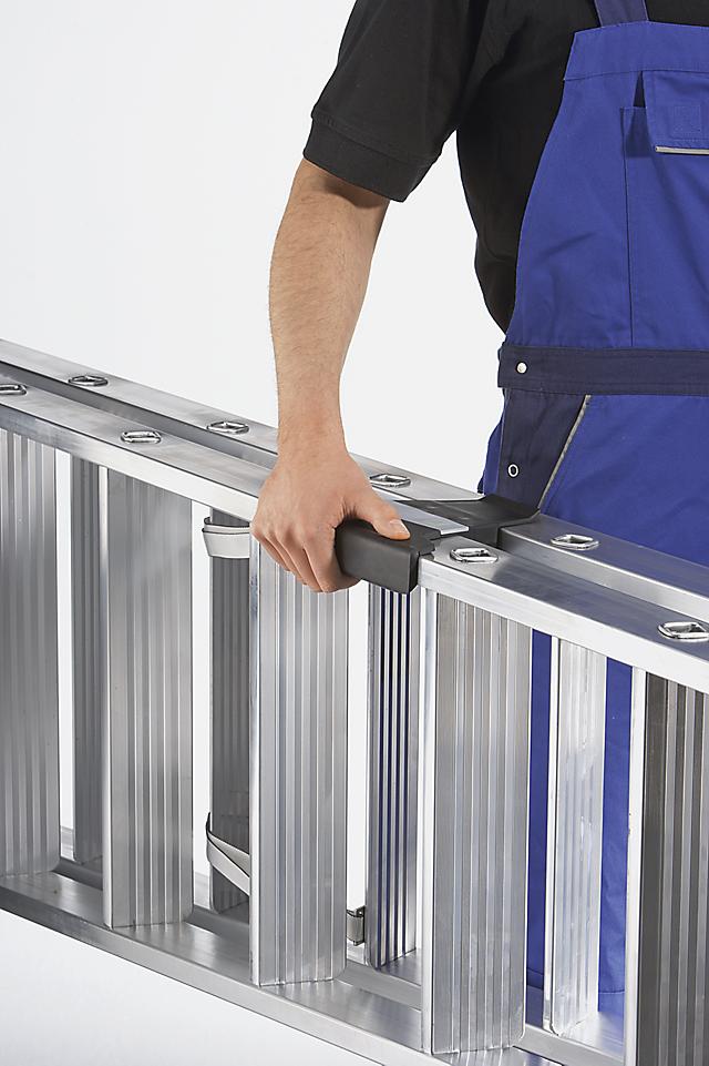 Hinweise zum ergonomischen und rückenschonenden Umgang mit Leitern ha&