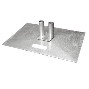 Steel footplate, zinc plated