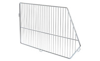 Zinc plated, blue passivated mesh divider