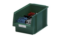 Labels for open fronted storage bin