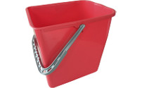 Replacement bucket for cleaning trolleys, chrome plated