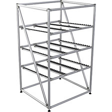 EASY FLOW flow-through rack made of aluminium profile