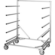 MULTI RACK cantilever trolley made of aluminium profile
