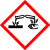 Adequada para substâncias causticas. Reação das substâncias: destroem tecido vivo (p.ex. os ácidos com pH < 2 ou as soluções alcalinas com pH > 11,5).