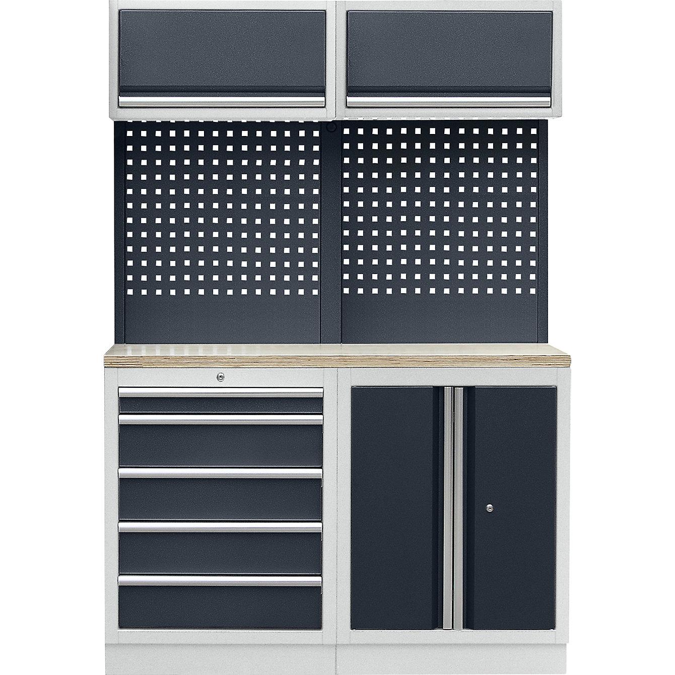 Sistema modulare da officina con armadietto con ante a ...