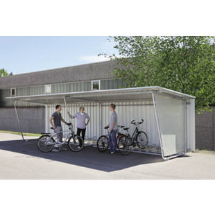 fahrradst nder zu flachdach berdachung m4856 gaerner. Black Bedroom Furniture Sets. Home Design Ideas