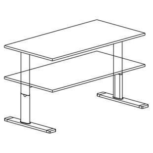 upliner schreibtisch elektrisch h henverstellbar m1080399 kaiser kraft sterreich. Black Bedroom Furniture Sets. Home Design Ideas