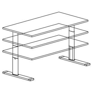 upliner stehschreibtisch elektrisch h henverstellbar m72943 kaiser kraft deutschland. Black Bedroom Furniture Sets. Home Design Ideas