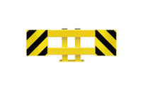 Shelf unit crash protection rail set