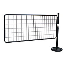 Barrier post extension set with mesh