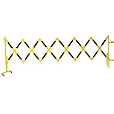 Expanding barrier for safety railings