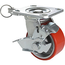 Heavy duty 3-in-1 swivel castor/fixed castor