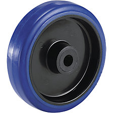 Full-elastic tyre on plastic rim