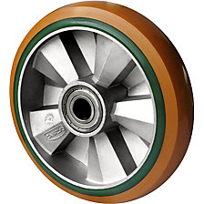 PU/PU elastic wheel, brown / green