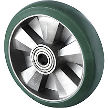 PU elastic wheel, green