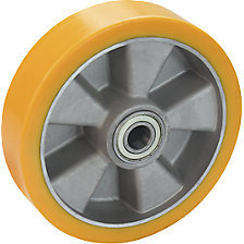 PU wheel on aluminium rim