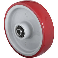 PU wheel, red on nylon rim
