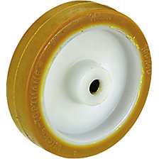Polyurethane tyre on nylon rim