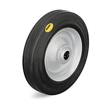 Two component solid rubber tyre