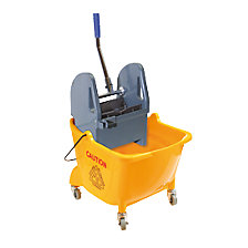 Wet mop trolley