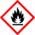 Suitable for flammable substances  Effect of the substances: can heat up in air at normal temperatures and ignite, or have a low flash point (< 23 °C), or form a hazardous quantity of highly flammable gases when exposed to moisture.