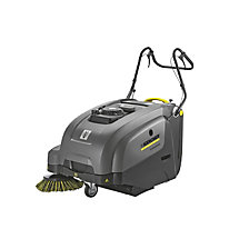 Walk-behind vacuum sweeper