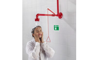 Emergency shower with pull cable