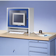 Monitor housing with integrated ventilation fan