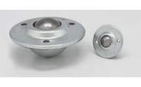 Ball unit with recessed sheet steel housing
