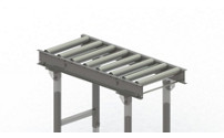 Heavy gravity conveyor with steel frame