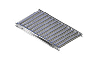Light duty roller conveyor, aluminium frame with aluminium rollers