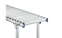 Light duty roller conveyor, steel frame with zinc plated steel rollers