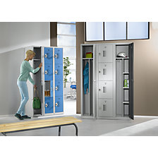 Compartment locker with cylinder lock