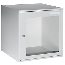Cube locker with vision panel