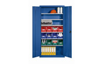 Storage cupboard made of sheet steel