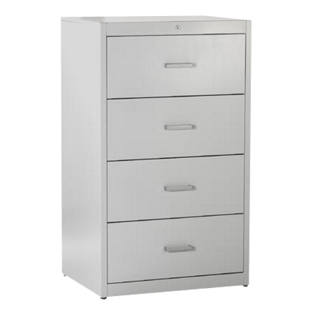 Suspension file cabinet, bar handles