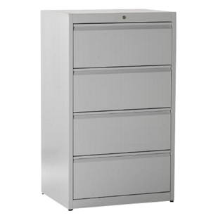 Suspension file cabinet, grip rails