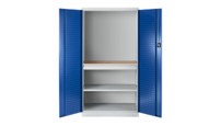 Tool cupboard with perforations